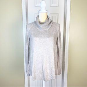 Loft Tan Turtle Neck Light Weight Sweater Size XS